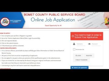 Job Application Steps Bomet County